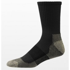 Aetrex Copper Sole Socks, Athletic, Crew, Black