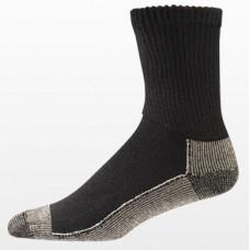 Aetrex Copper Sole Socks, Non-Binding, Crew, Black