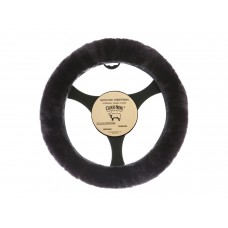 Cloud Nine Sheep Skin Steering Wheel Cover, Charcoal