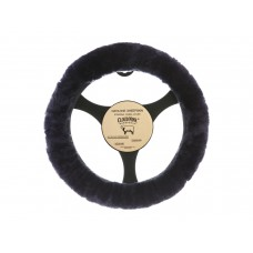 Cloud Nine Sheep Skin Steering Wheel Cover, Navy