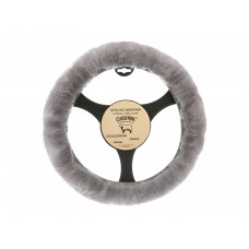 Cloud Nine Sheep Skin Steering Wheel Cover, Silver