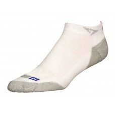 Drymax Run Mini Crew Socks,  White/Grey