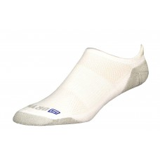 Drymax Run Lite-Mesh No Show Tab Socks,  White/Grey