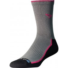 Drymax Trail Run Crew Socks,  October Pink/Black/Gray
