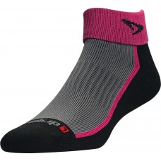 Drymax Trail Run 1/4 Crew with Turndown October Pink and Black