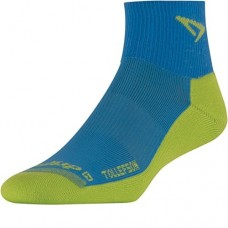 Drymax TOLLEFSON Lite Trail Running 1/4 Crew,  Big Sky Blue/Sublime
