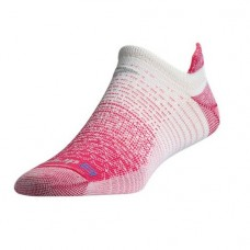 Drymax Thin Running No Show Tab,  October Pink/White