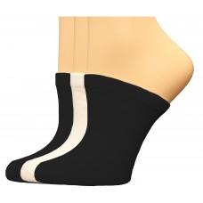 FootGalaxy Premium Clog Socks 3 Pair, Black/Black/White