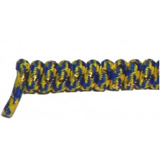 FeetPeople Curly Laces, Yellow/Blue/Gold