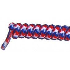 FeetPeople Curly Laces, White/Red/Blue