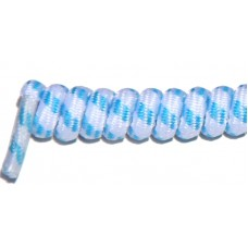 FeetPeople Curly Laces, White/Skyblue