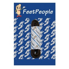 FeetPeople Waxed Round Dress Laces, Brown