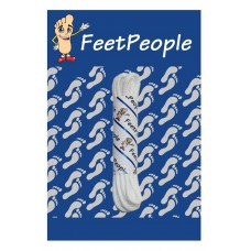 FeetPeople Waxed Round Dress Laces, White