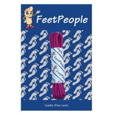 FeetPeople Waxed Round Dress Laces, Electric Fuchsia