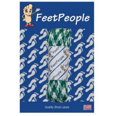 FeetPeople Glow Flat Laces, Kelly Green Argyle