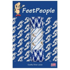FeetPeople Glow Flat Laces, Royal Argyle