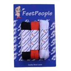 FeetPeople Flat Lace Bundle, 3 Pr, Bears