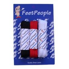 FeetPeople Flat Lace Bundle, 3 Pr, Bills