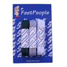 FeetPeople Flat Lace Bundle, 3 Pr, Eagles