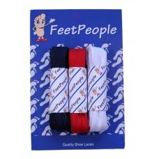 FeetPeople Flat Lace Bundle, 3 Pr, Giants