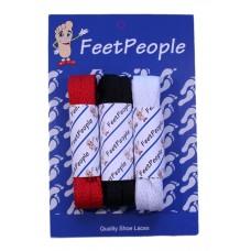 FeetPeople Flat Lace Bundle, 3 Pr, Falcons