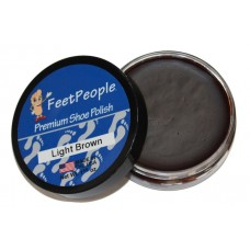 FeetPeople Premium Shoe Polish, 1.625 Oz., Light Brown