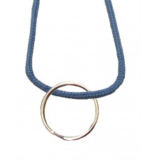 FeetPeople Round Lace Key Chain, Columbia Blue