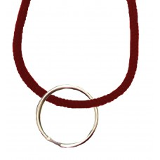 FeetPeople Round Lace Key Chain, Maroon