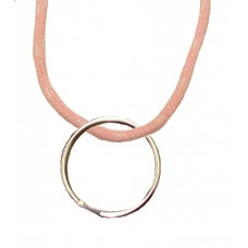 FeetPeople Round Lace Key Chain, Pink With White Chip