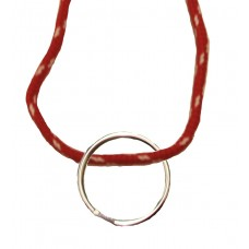 FeetPeople Round Lace Key Chain, Red With White Chip