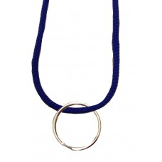 FeetPeople Round Lace Key Chain, Royal