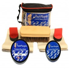 FeetPeople Premium Conditioning Kit with Travel Bag, Brown