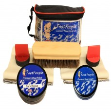FeetPeople Premium Conditioning Kit with Travel Bag, Dark Brown