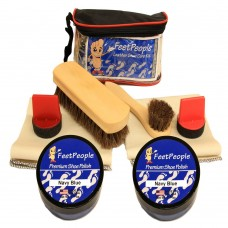FeetPeople Ultimate Leather Care Kit with Travel Bag, Navy
