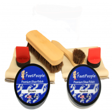 FeetPeople Ultimate Leather Refill Kit, Neutral & Brown