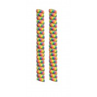 FootGalaxy Twister Curly Laces, Rainbow