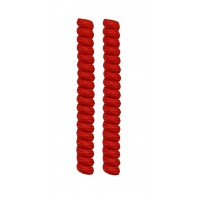 FootGalaxy Twister Curly Laces, Red