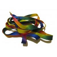 FootGalaxy Printed Rainbow Flat Shoelaces*
