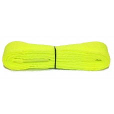 FootGalaxy High Quality Flat Laces For Boots And Shoes, Neon-Yellow