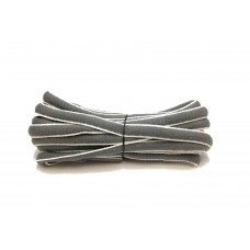 FootGalaxy Oval Laces For Boots And Shoes, Grey and White Stripe