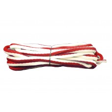 FootGalaxy Oval Laces For Boots And Shoes, Red and White Stripe