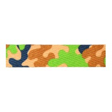 FootGalaxy Green Camouflage Printed Shoe Laces