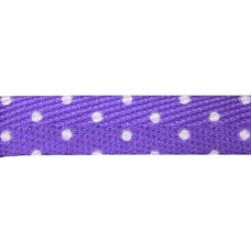 FootGalaxy Purple with White Dot Printed Shoe Laces