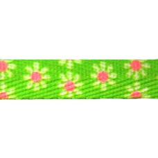 FootGalaxy Green with Flowers Printed Shoe Laces