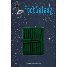 FootGalaxy High Quality Round Laces For Boots And Shoes, Hunter Green
