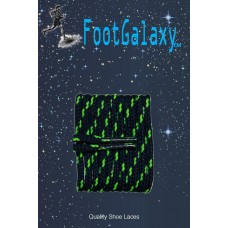 FootGalaxy High Quality Round Laces For Boots And Shoes, Navy With Neon Green Chip