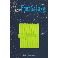 FootGalaxy High Quality Round Laces For Boots And Shoes, Neon Yellow