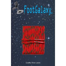 FootGalaxy High Quality Round Laces For Boots And Shoes, Red With Green Chip