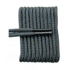 FootGalaxy High Quality Round Laces For Boots And Shoes, Grey