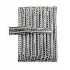 FootGalaxy High Quality Round Laces For Boots And Shoes, Metallic Grey